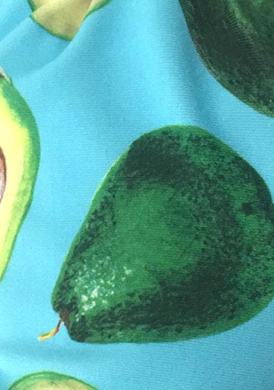 Avocado pattern detail ManiGlovz manicure sunblock gloves