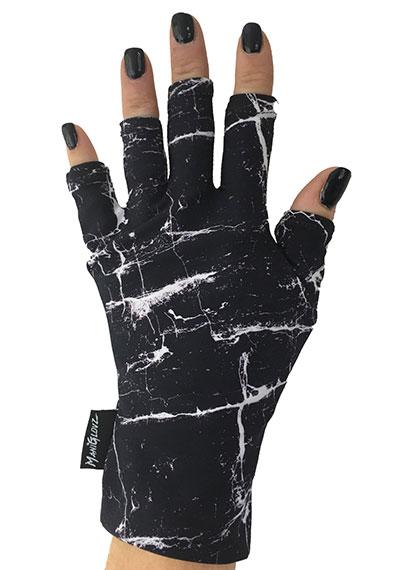 Black Marble ManiGlovz manicure sunblock gloves