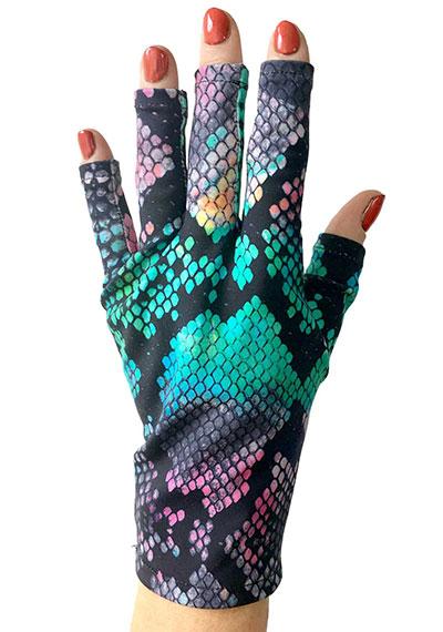 Candy Python ManiGlovz manicure sunblock gloves
