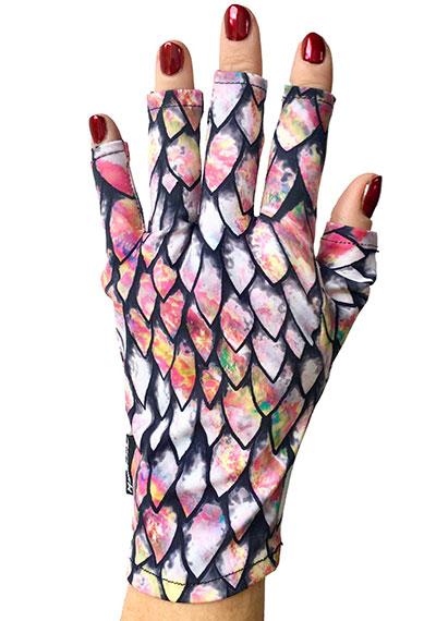 Dragon Scale ManiGlovz manicure sunblock gloves