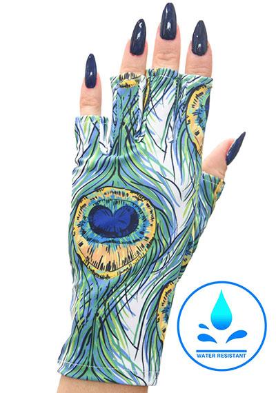 Feathers on Fleek ManiGlovz manicure sunblock gloves