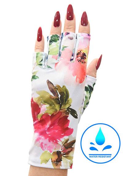 Haute Hibiscus ManiGlovz manicure sunblock gloves