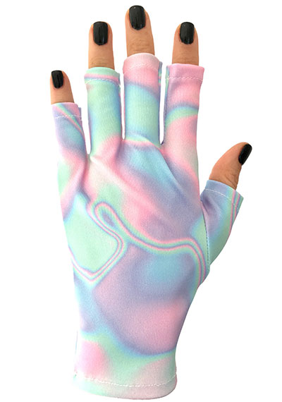 Holographic Happiness ManiGlovz manicure sunblock gloves