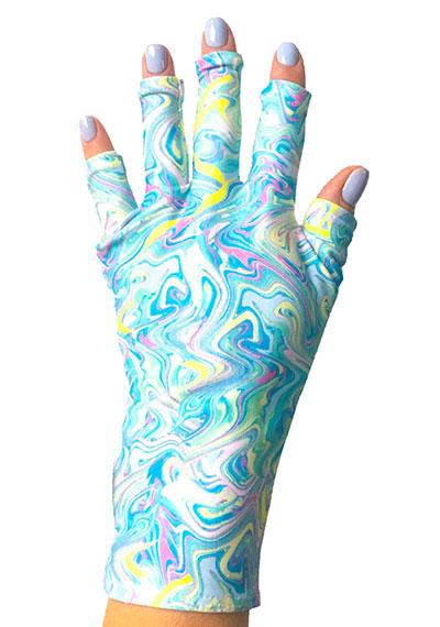 Mint Abstract ManiGlovz manicure sunblock gloves
