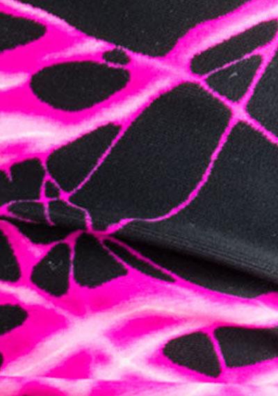 Pink Lightning pattern detail ManiGlovz manicure sunblock gloves