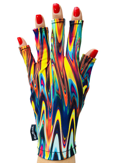 Psychedelic Trip ManiGlovz manicure sunblock gloves