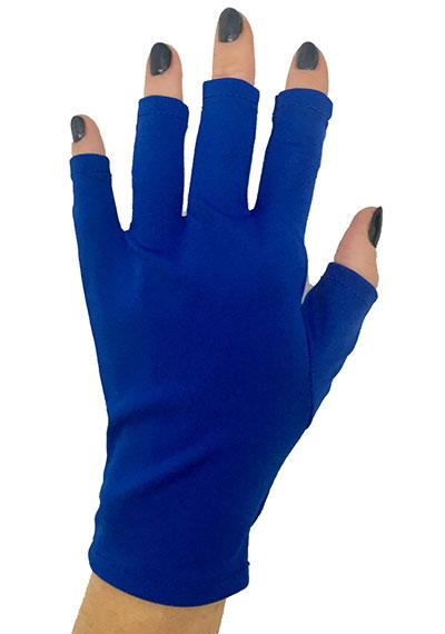 Royalty Blue ManiGlovz manicure sunblock gloves