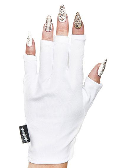 White Hot ManiGlovz manicure sunblock gloves
