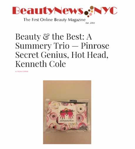 ManiGlovz in Beauty News NYC publication