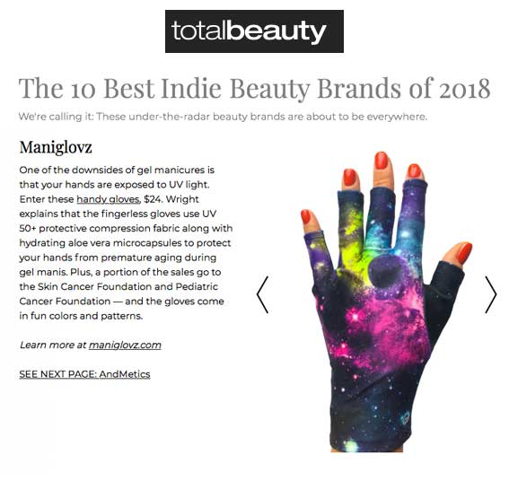 ManiGlovz review in Total Beauty