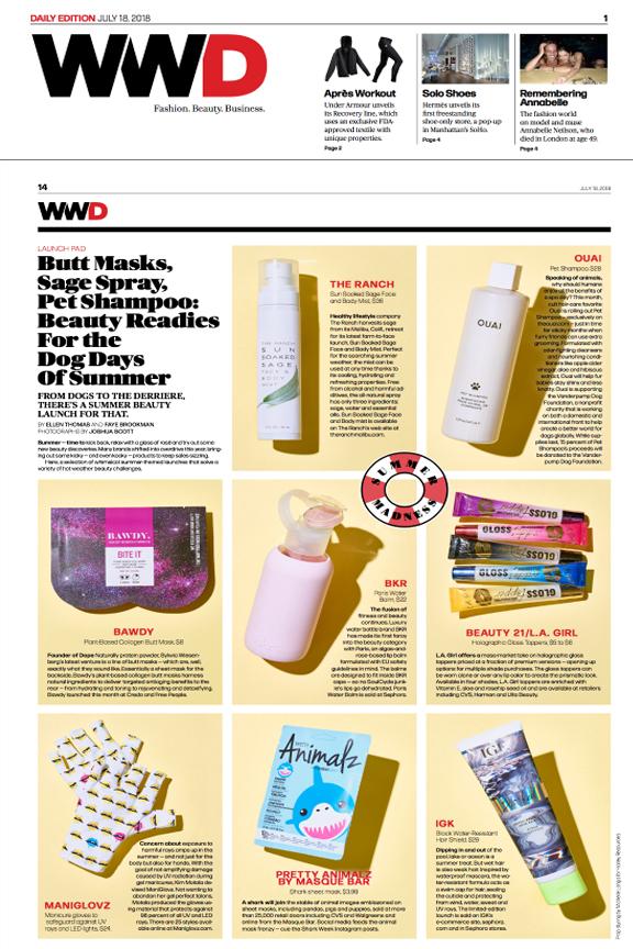 ManiGlovz in WWD Daily Edition