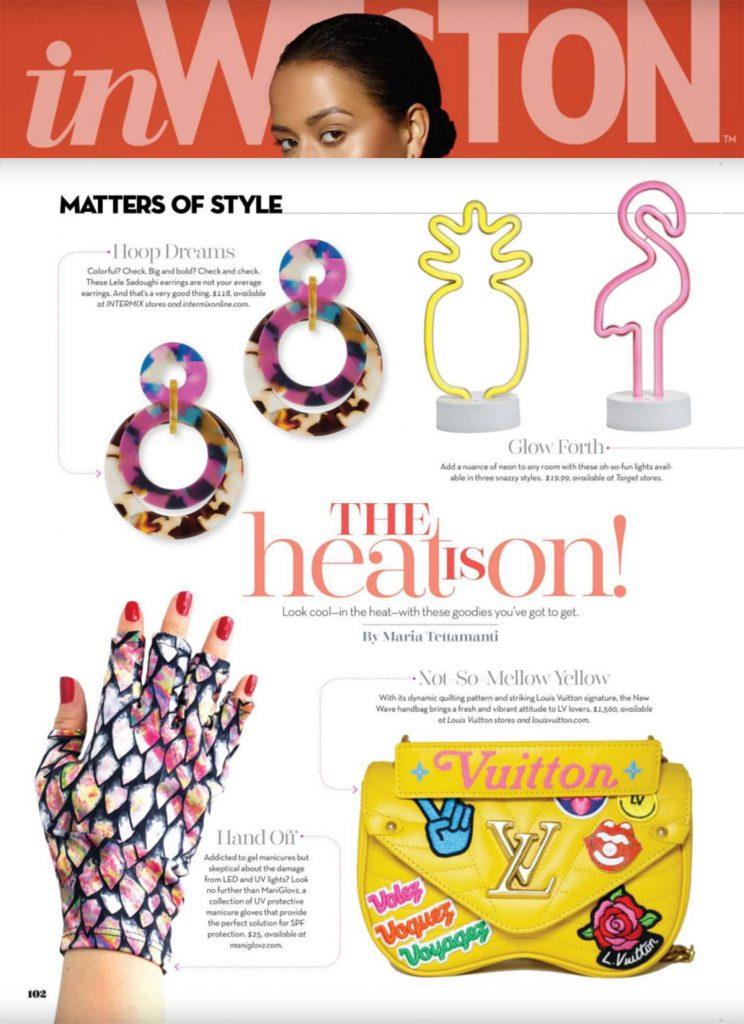 ManiGlovz featured in InWeston Magazine