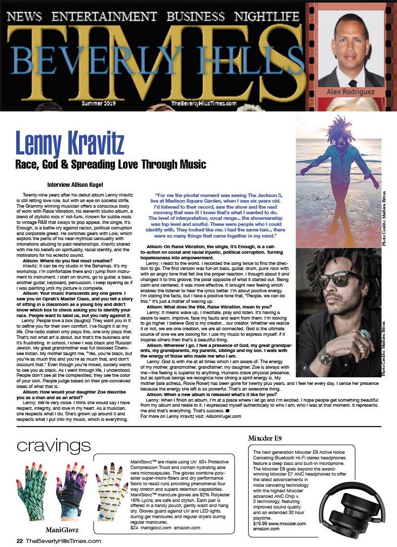 ManiGlovz featured in Beverly Hills Times