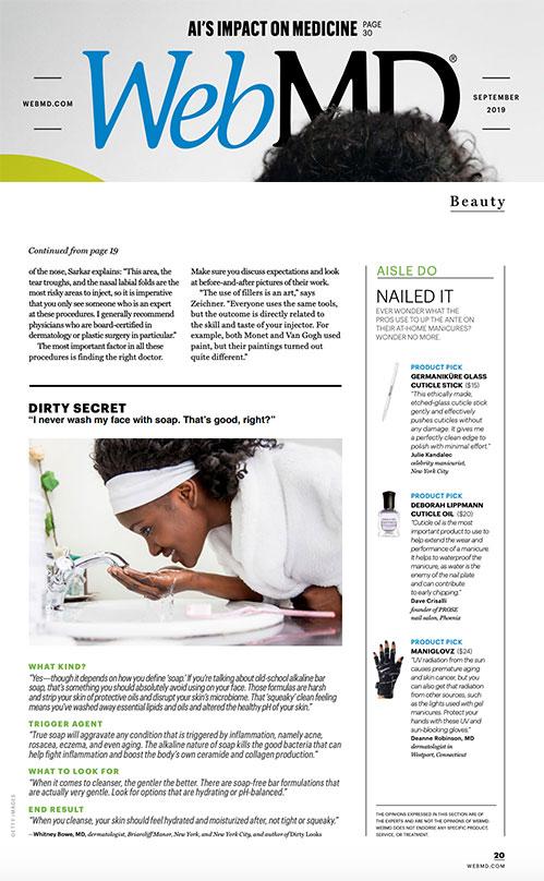 ManiGlvoz featured in WebMD Magazine